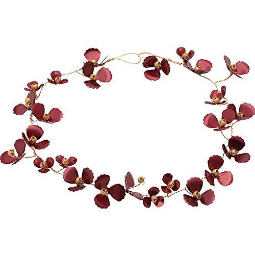 Tclothing Diademe Braut Tiara Sen Red Fairy Flower Stirnband Hochzeit Styling weibliche Hochzeit Schmuck Hochzeit Kleid Accessoires Geschenk -