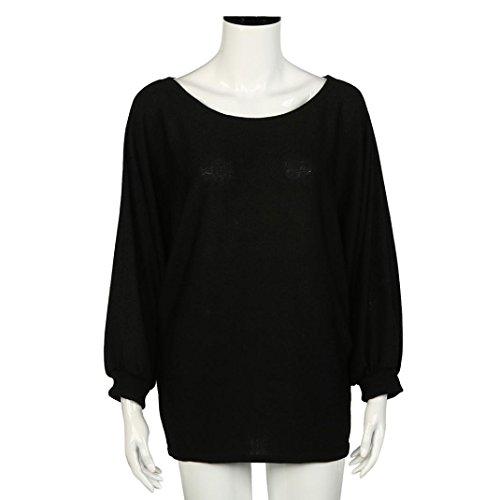 Transer - Pull - Femme Whtie taille unique Noir