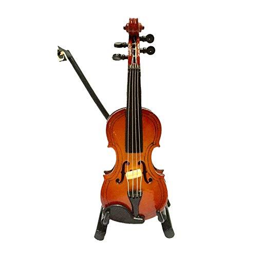 Romote Schöne Künstliche Violine Vivid Miniatur-Simulation-Violine Spielzeug Lodge Props Für Puppenhaus Mini Musikinstrumente 1pc