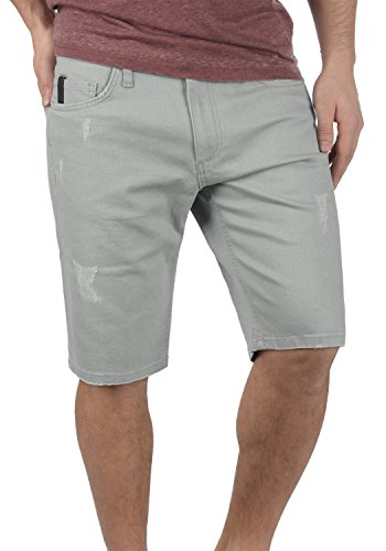 REDEFINED REBEL Monfire Herren Jeans-Shorts kurze Hose Denim aus hochwertiger Baumwollmischung Light Grey