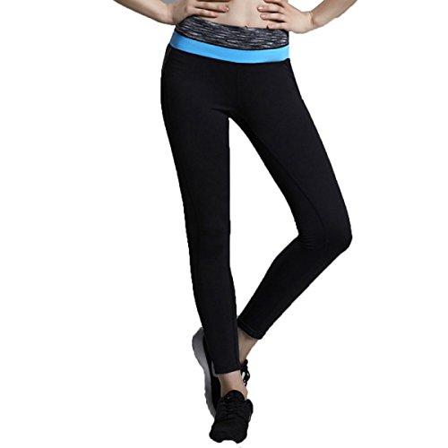 Leggings Rapides Séchage Course Workout Yoga De Sport De Femmes Neuvième Pantalon blue