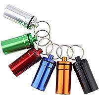 6 Stück Pillenbox Aluminium, Mini Pillendose Wasserdichte mit Schlüsselanhänge für Haushalt Reisen Angeln Camping... preisvergleich bei billige-tabletten.eu