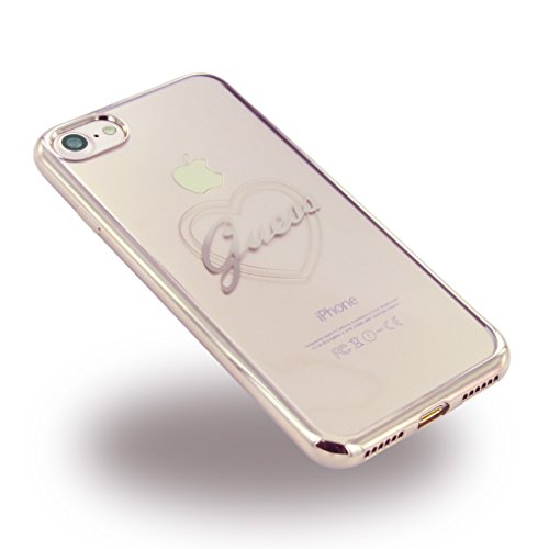 Guess GUHCP7TRHRG Signature Heart TPU Schutzhülle für Apple iPhone 7 rose gold rose gold