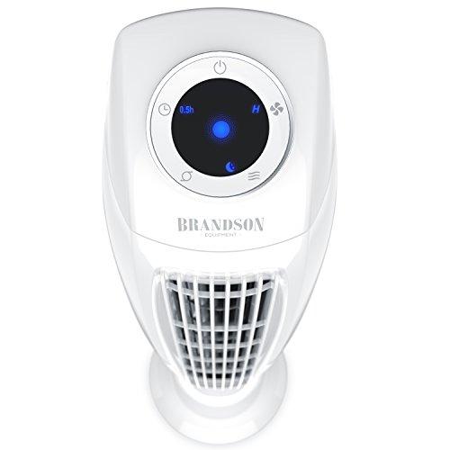 Brandson - Turmventilator mit Fernbedinung | Säulenventilator inkl. Oszillation | 86 cm | 60W | 3 Geschwindigkeitsstufen (LOW/MEDIUM/HIGH) + Timer | LED-Display | leises Betriebsgeräusch | weiß