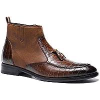 Wanlianer Bota de Hombre Botas de Tobillo Casual Transpirables con Zapatos Ocasionales con Cremallera en Punta de los Hombres Occidentales (24.5cm-29cm) Invierno (Color : Marrón, tamaño : 44 2/3 EU)