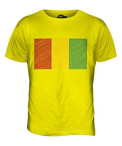 CandyMix Guinea Kritzelte Flagge Herren T Shirt Zitronengelb