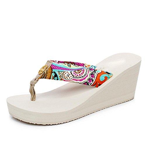 pengweiPattini delle donne delle pantofole del pattino del pendio di sole sollecitato di svago di estate 2