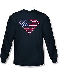 Superman - US Bouclier shirt manches longues Homme En Marine