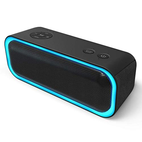 Zmsdt Altavoz Portátil Bluetooth 20W, Altavoz 360 °, Bajos Múltiples Mejorados Luces...