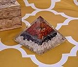 Cristal natural Ágata blanca Turmalina y jaspe rojo Pirámide orgone Reiki Curación Protección EMF Generador de energía Pirámides de cristal de orgonita