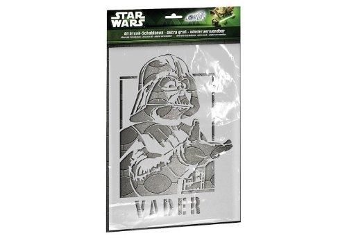 Orbis Airbrush, Orbis-Schablonenset Star Wars Darth Vader in XXL, DIN A3 Profi-Airbrush-Schablonen für alle Untergründe geeignet, 5 detailreiche Schablonen aus strapazierfähiger Folie - 30214
