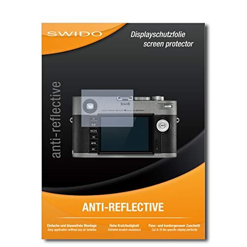 SWIDO Schutzfolie für Leica M-E (Typ 240) [2 Stück] Anti-Reflex MATT Entspiegelnd, Hoher Härtegrad, Schutz vor Kratzer/Folie, Displayschutz, Displayschutzfolie, Panzerglas-Folie
