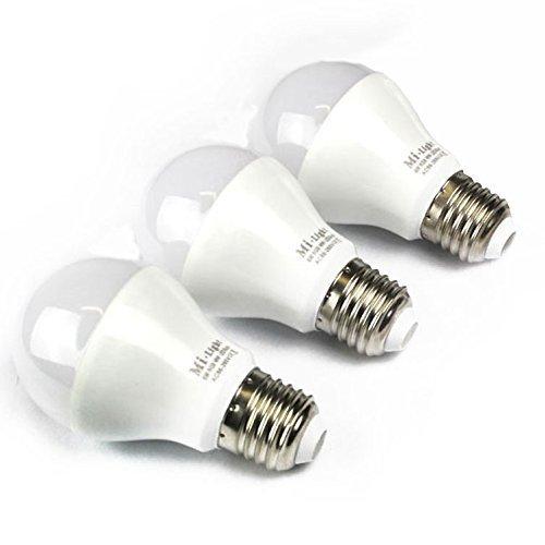 Preisvergleich Produktbild mi-light Expansion Pack: 3 x E27 LED 6W 1, 6 Millionen Farbe Warm Weiß Leuchtmittel für mi-light dimmbar WLAN,  2, 4 GHz RF Fernbedienung,  Android und IPHONE Control System [Energie Klasse A]