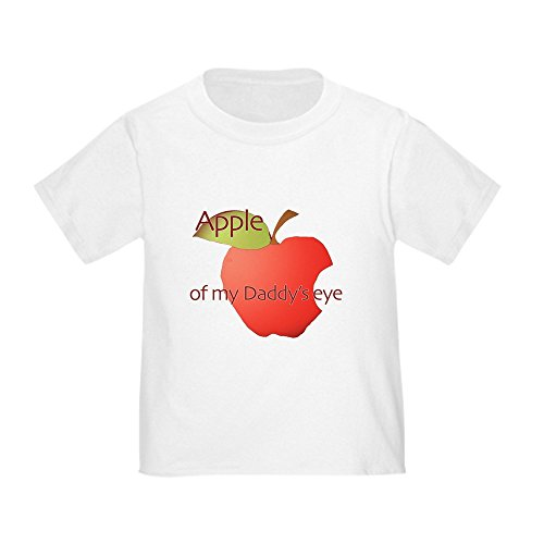 CafePress - Apple Of Daddy's Eye - Cute Toddler T-Shirt, 100% Cotton