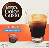 NESCAFÉ Dolce Gusto Lungo Decaffeinato | 16 Kaffeekapseln | Entkoffeiniert | 100%  Arabica Bohnen aus Südamerika | Feine Crema | Aromaversiegelte Kapseln | 1er Pack (1 x 16 Kapseln)