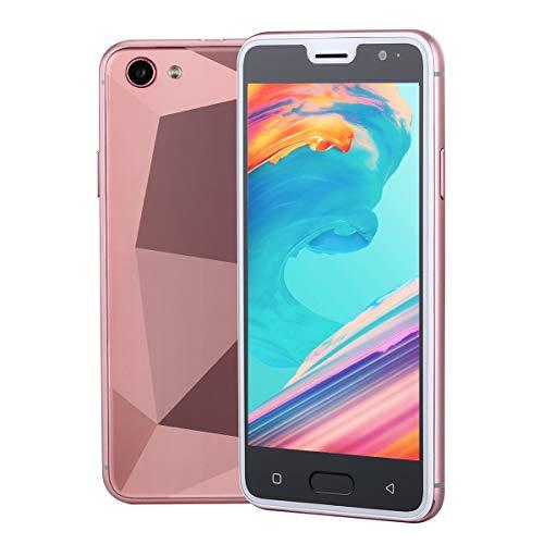 Móviles y Smartphones Libres, Unlocked 3G Teléfono Móvil Libre y sin Bloqueo de SIM, 5.0 Pulgadas con Pantalla HD Procesador (5.0MP HD Cámara,Dual SIM,1GB RAM & 4GB ROM (GPS,WiFi,Bluetooth (Rosa)