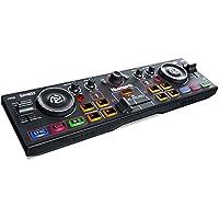 Numark DJ2Go2 - Controlador DJ portátil de dos canales con interfaz de audio incorporada, pads, platos y Serato DJ Intro incluido