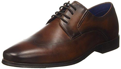 Bugatti 311453021100, Zapatos de Cordones Derby para Hombre, Marrón Cognac, 42 EU
