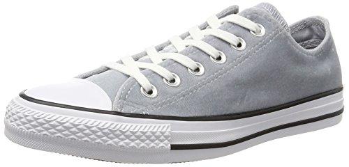 Converse Ctas Ox Wolf Grey White, Baskets Mixte Adulte Grau (Wolf Grey)