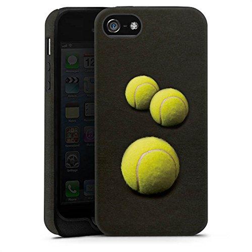 Apple iPhone 6 Silikon Hülle Case Schutzhülle Tennis Bälle Sport Tough Case matt