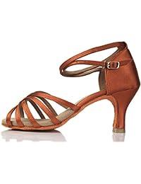 cd6397f00f0e0 VASHCAME-Chaussures a Talons Hauts de Danse Latine Sandales pour Femme