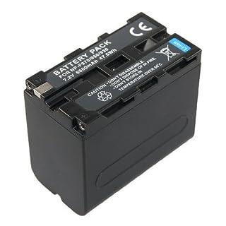 Akku kompatibel für NP-F970 Sony GV-A500 D200 D800 DSR-200 300 PD100A BC-V615 DCM-M1 DCR-TRU47E MVC-CD1000 PLM-100 VCL-ES06A CCD-TR1 TR200 TR215 TR3 TR300 TR3000 TR3300 TR416 DSC-CD100 CD250 CD400 TV900 D700 D7700