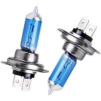 Bombilla H7 Luz Ultra blanca lámpara frontal para coche 55W Tuning Efecto Xenon