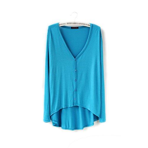 HIDOUYAL - Gilet - Uni - Manches Longues - Femme Taille unique See Blau