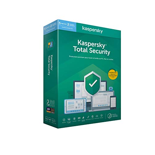 Kaspersky Total Security 2020 (5 Postes / 2 Ans)|Total Security|5 appareils|2 Ans|PC/MAC/Android|Telechargem