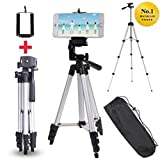 #5: Aaj Jio Tripod Flexible Mount/Tripod Stand with 3-D Head & Quick Release Plate, Portable & Foldable for DSLR and Mobile, 350g, 105cm, 40.2inch