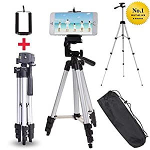 Aaj Jio Tripod Flexible Mount/Tripod Stand with 3-D Head & Quick Release Plate, Portable & Foldable for DSLR and Mobile, 350g, 105cm, 40.2inch