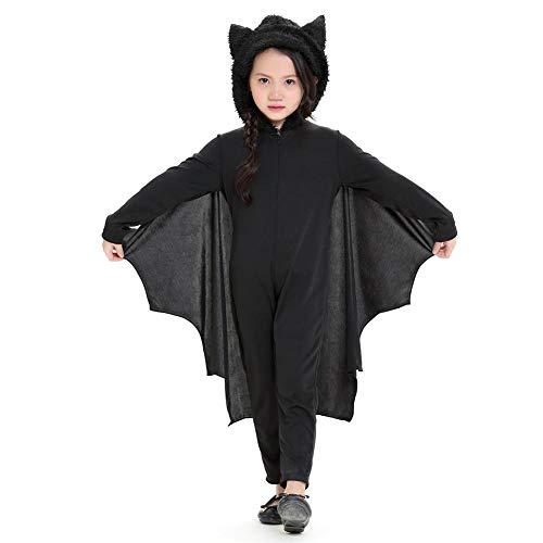 Halloween Kostüm Kinder Cospaly Vampir Overall Fledermaus Maskerade Kostüm Kleidung Schläger Fledermaus Kostüm für Karneval Fastnacht Party - Maskerade Kostüm Kinder