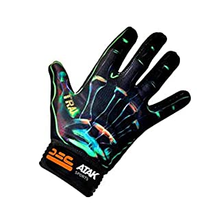 Atak Sports Men's Trax Gaelic Gloves, Green, 10-11 Years