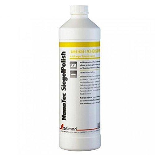 Preisvergleich Produktbild Certiman,  Nano Tec Siegel Polish 1000 ml,  Wasserabperl-Effekt,  Lack Hochglanz,  Micro-Lackschäden wirkungsvoll versiegelt
