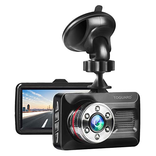 "TOGUARD Dash Cam Full HD 1080P Car Camera with Super Night Vision Dashcam DVR Dashboard Camera 3"" Screen 170°Wide Angle, Parking Monitor, G-Sensor, Motion Detection"