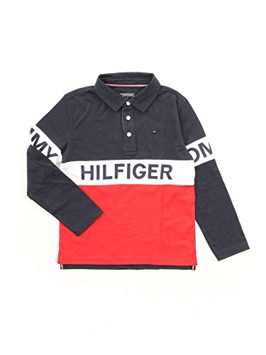Tommy Hilfiger Ame Cut and Sew Rugby L/S, Camisa para Niños Tommy Hilfiger
