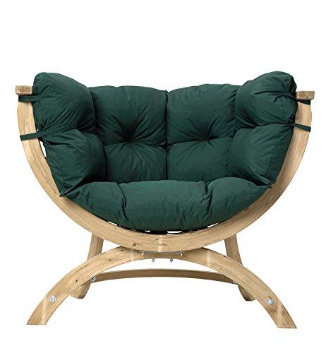 AMAZONAS Lounge Sessel Siena UNO Green Weatherproof aus FSC Fichtenholz ca. 120 x 95 x 60 cm bis 150 kg in Grün