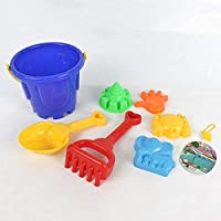 MachinYester Large 7 Pieces Unique Kids Games Seaside Beach Sand Toy Play Learning Educational Toy Sandbox Toys Hobbies Shovel random