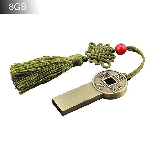 Reputedc Yuanbao U-Scheibe, chinesischer Stil, klassisch, U-Scheibe, Metall-Geschenk, chinesischer Stil, U-Scheibe 4G 16 G (Karton)