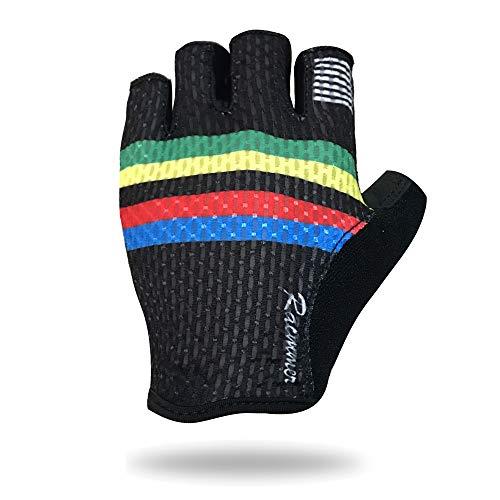 YYZC Herren Halbfinger Outdoor Sport Arbeitshandschuhe Camping Wandern Cross Country Bikes Cross Country Handschuhe (Color : Pic Color, Size : L) (Pic 4 Song)
