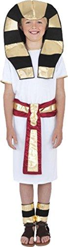 Halloween Kinder Fancy Kleid Party Outfit Ägyptische Boy Kostüm weiß Gr. L , (Boy Kostüme Ägyptische)