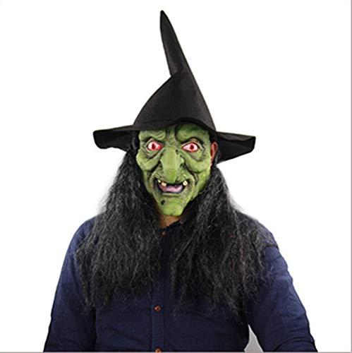 Halloween Green Head Horror Hexe Maske Spukhaus Room Escape Dress Up Maske Ganzer Mann Kopfbedeckung 226 Verkleidung