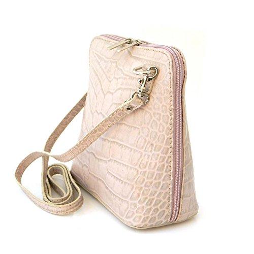 65a0fe0025e54 ... Vera Pelle Handtaschen Italien Echt Leder Schultertasche Frauen Damen  Tasche Handtasche Ital Bag Hell Violet Crock ...