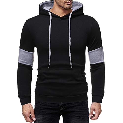 Mens Slim Fit Long Sleeve Lightweight Hoodie with Kanga Pocket ◆Elecenty◆ Sports Outwear Sweatshirts Hooded Pullover Sportbekleidung Drawstring Tops -