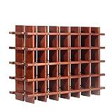 Modulares Weinregal System PRIMAVINO, für 30 Fl, Holz Kiefer dunkelbraun, stapelbar/erweiterbar - H 54 x B 75 x T 22 cm