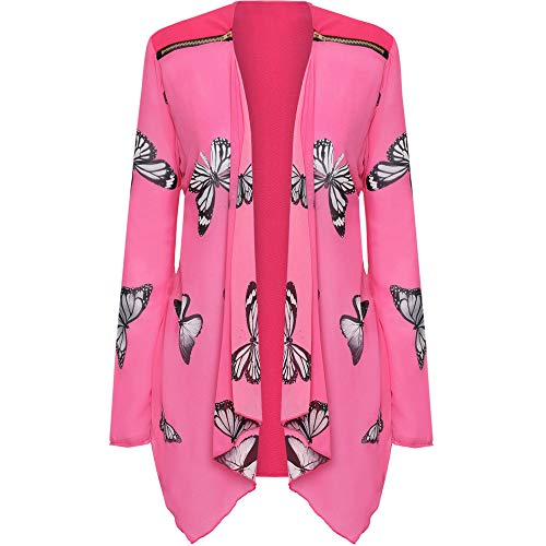 Womens Chiffon Schmetterling gedruckt Schal Kimono Cardigan Top Cover Up Bluse Halloween-Rock Flare elastische Taille Sweater Stricken Pullover Mode Baumwolle Mantel Parka Dicker Outwear
