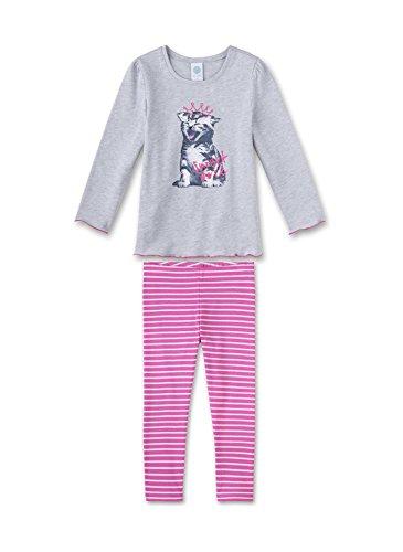 Sanetta Mädchen Zweiteiliger Schlafanzug 231820, Grau (Hellgrau Melange 1646), 128