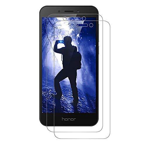 [2 Stück] Honor 6A Schutzfolie, AICEK Tempered Glass Bildschirmschutzfolie für Huawei Honor 6A Schutzglas Screen Protector 9H Hardness Gehärtetem Glas Anti-Kratz Klar Bildschirmschutz Honor 6A Panzerglas