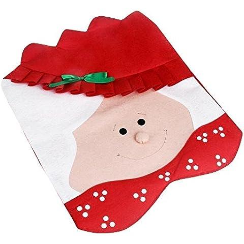 Aohro Mrs Copri Sedie Cappello di Babbo Natale Indietro Imposta coperture Cena decorazione di Natale Decora la stanza