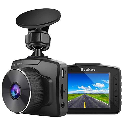 Byakov Dashcam, 2'écran LCD 1080P Full HD Camera Voiture avec G-Sensor, WDR, Enregistrement en Boucle, 170° Grand Angle, Vision Nocturne, Détection de Mouvement
